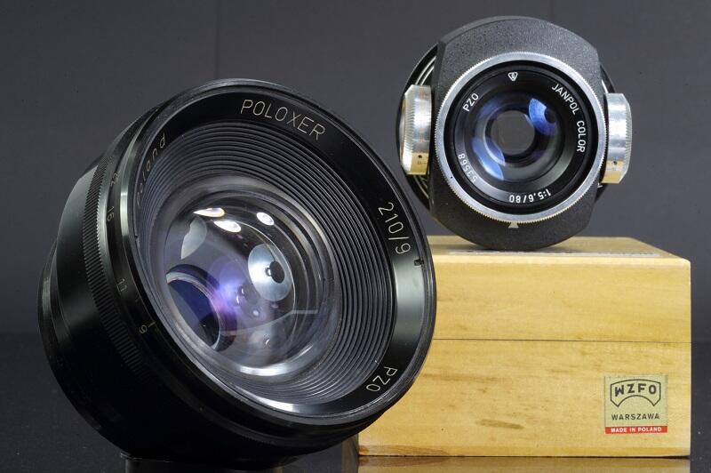 Na wystawie w Hevelianum zobaczymy nie tylko aparaty, ale także inny sprzęt - np. te obiektywy oraz rzutniki