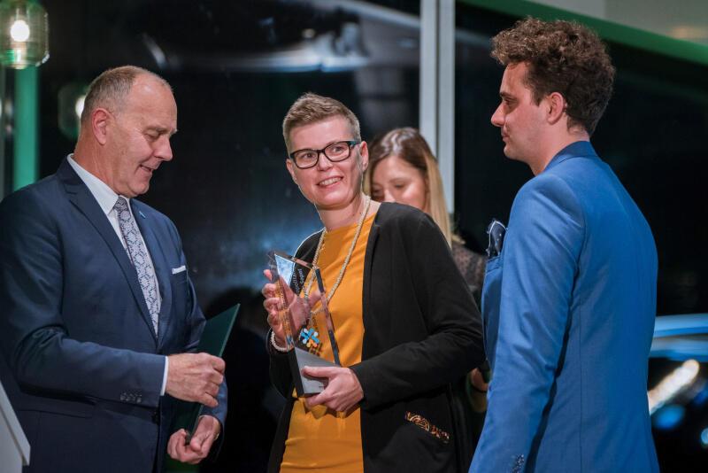 Nagrodę w imieniu Tczewskich Kurierów Rowerowych odebrali Paulina Kremer i Maksymilian Fleming