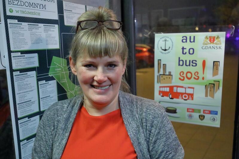 Joanna Kobiela od trzech lat gotuje dla pasażerów Autobusu SOS w Gdańsku
