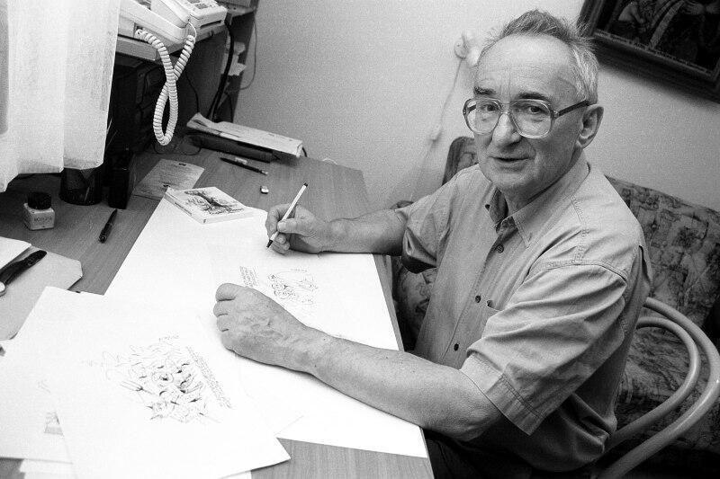 Zbigniew Jujka przez wiele lat tworzył satyryczne rysunki w Dzienniku Bałtyckim