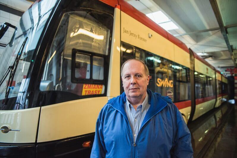 Mariusz Uziębło ze spółki Gdańskie Autobusy i Tramwaje