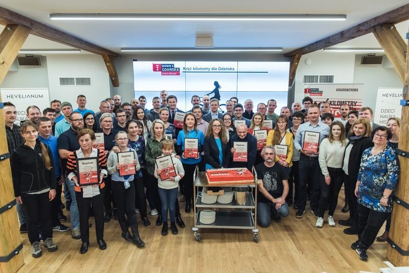 Nagrodzeni i wyróżnieni podczas kampanii Kręć kilometry dla Gdańska