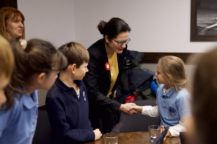 W spotkaniu udział wzięły dzieci z klasy 3