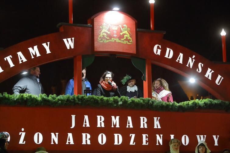 Udanego czasu spędzonego na jarmarku życzyła wszystkim Prezydent Aleksandra Dulkiewicz