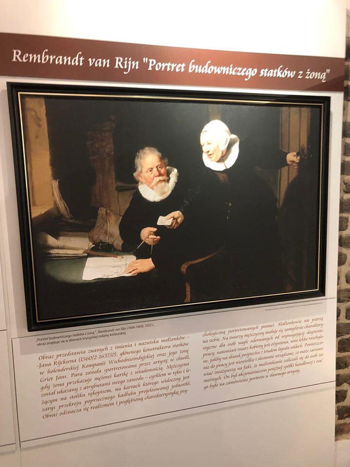 """Rembrandt van Rijn - """"Portret budowniczego statków z żoną"""""""