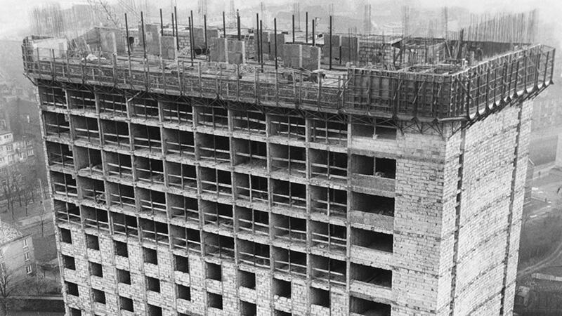 Budowa hotelu Heweliusz w Gdańsku, 16 lipca 1977 roku