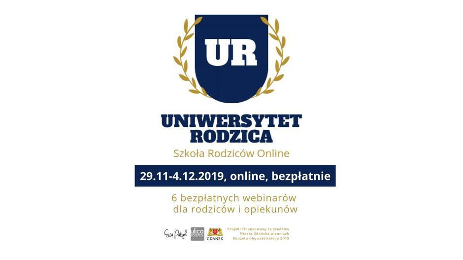 Uniwersytet Rodzica to program, który składa się z cyklu 6 bezpłatnych webinarów realizowanych na Facebooku