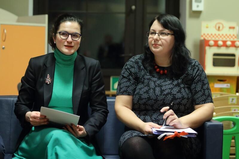 Gospodynią spotkania z Prezydent Aleksandrą Dulkiewicz, i pracownikami gdańskiego magistratu, była przewodnicząca Zarządu Dzielnicy, Agnieszka Bartków