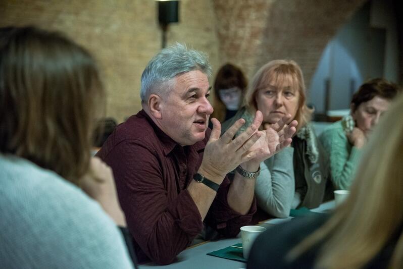 Spotkanie w podziemnej sali Wielkiej Zbrojowni to trzecie w tym roku konsultacje dotyczące budżetu obywatelskiego w Gdańsku