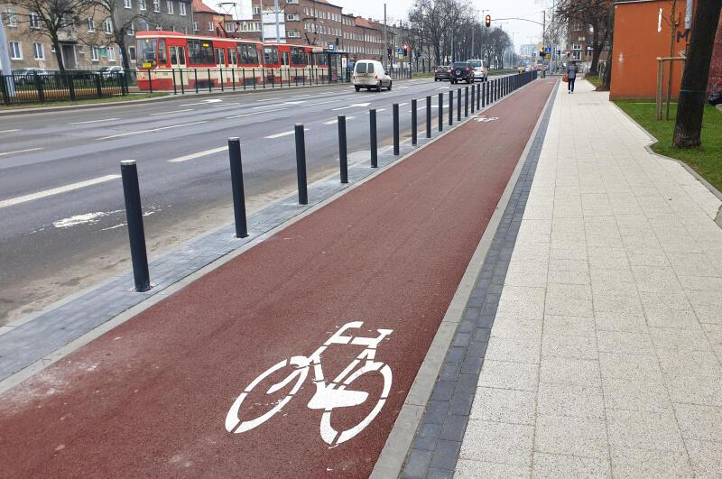 Nowa droga dla rowerów ma ok. 500 długości