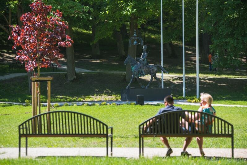 Park Oruński - jedno z najbardziej atrakcyjnych miejsc, nie tylko w dzielnicy Orunia - św. Wojciech - Lipce
