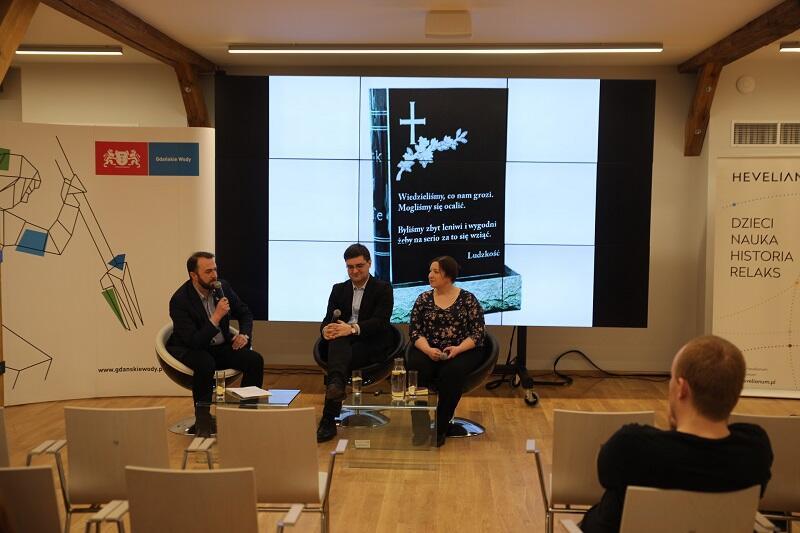 Taki slajd zakończył prezentację zaproszonych ekspertów, od l: Ryszard Gajewski - prezes Gdańskich Wód, Marcin Popkiewicz, Lidia Wojtal