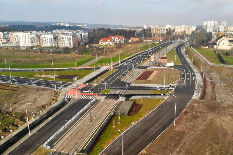 Gotowe już skrzyżowanie z ulicą Nową Wołkowyską
