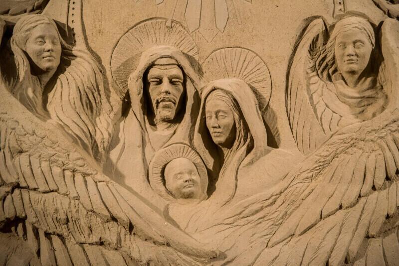 Bożonarodzeniowa Szopka z Piasku w Oliwie została uroczyście odsłonięta 21 grudnia