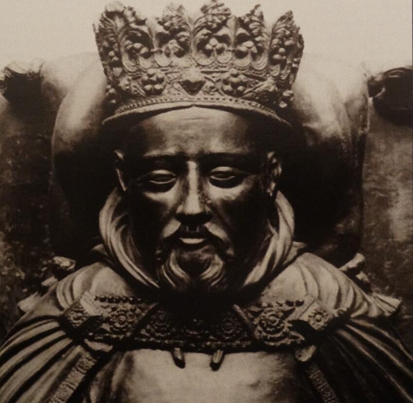 Henryk IV - fragment nagrobka w katedrze w Canterbury