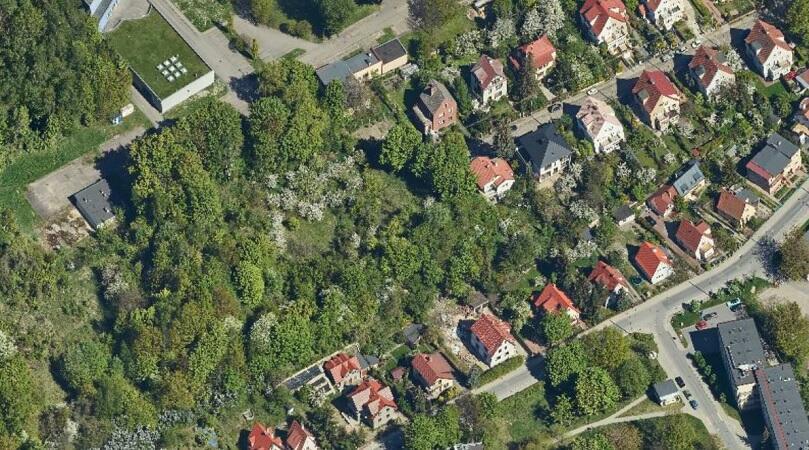 Obszar w okolicach ulic Dantyszka i Dębowej