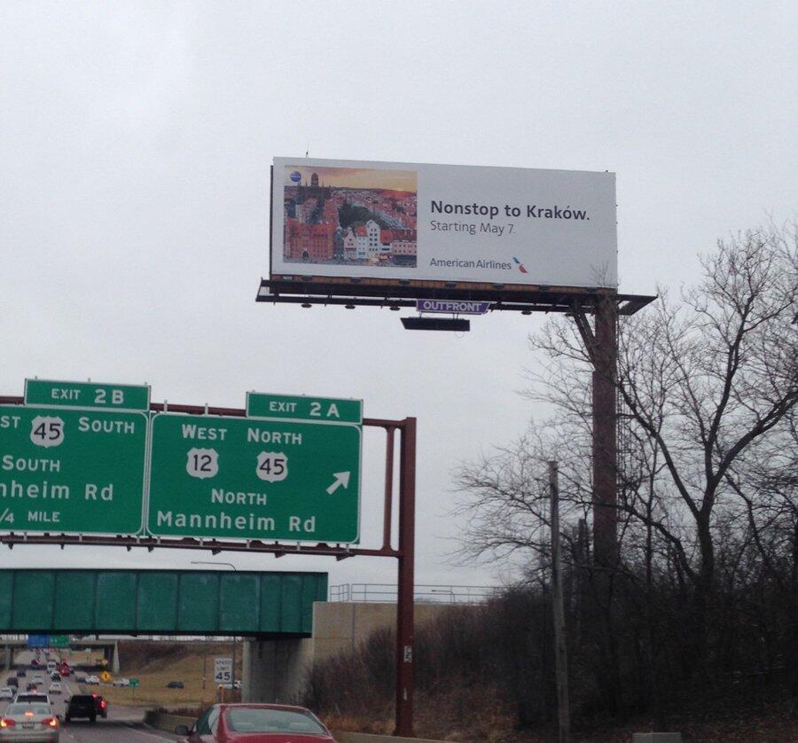 Tak wygląda w całości zdjęcie zrobione na autostradzie pod Chicago