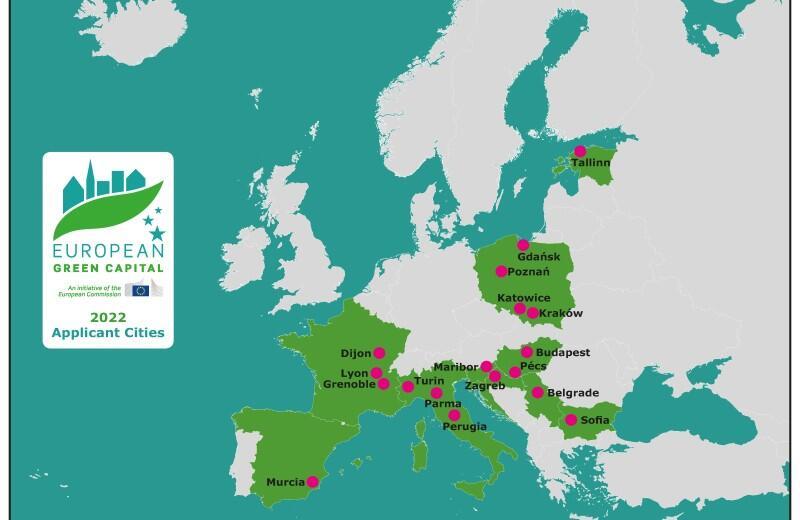 Na liście kandydatów do tytułu Zielonej Stolicy Europy jest 18 miast europejskich. W tym cztery polskie