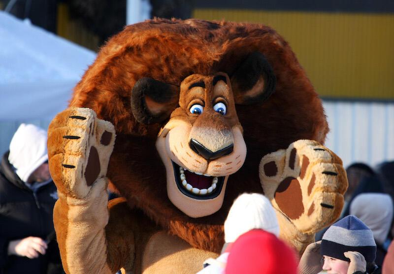 Lwy to popularne maskotki - symbole, bo wywołują konkretne skojarzenia. Tak też powinno być w przypadku maskotki, która stanie się symbolem UG. Nz. Lew Alex - jeden z bohaterów filmu Madagaskar