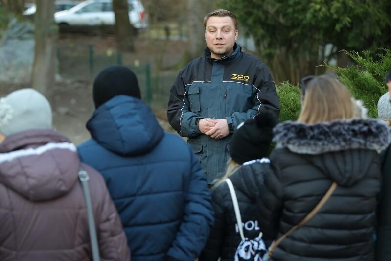 Nz. Tomasz Fiałkowski - opiekun pingwinów w Gdańskim Ogrodzie Zoologicznym