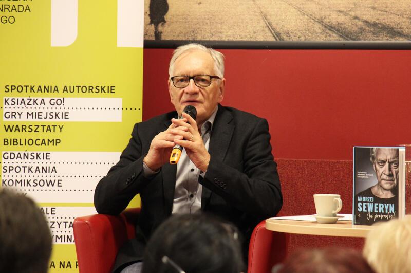 Andrzej Seweryn w Bibliotece Manhattan w Gdańsku