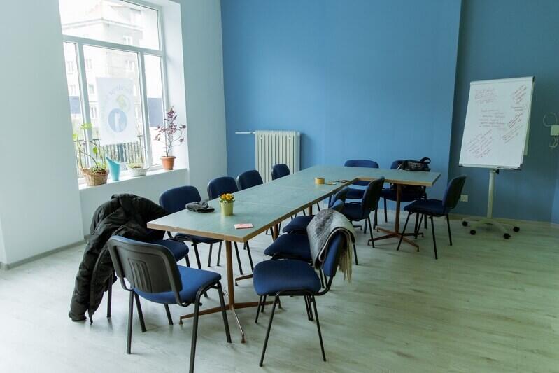 Sala konferencyjno - warsztatowa w Caffe Aktywni. Można ją wynająć