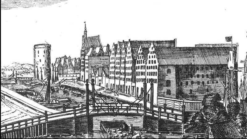 Most Stągiewny wg. Aegidiusa Dieckmana, w prawym rogu grafiki