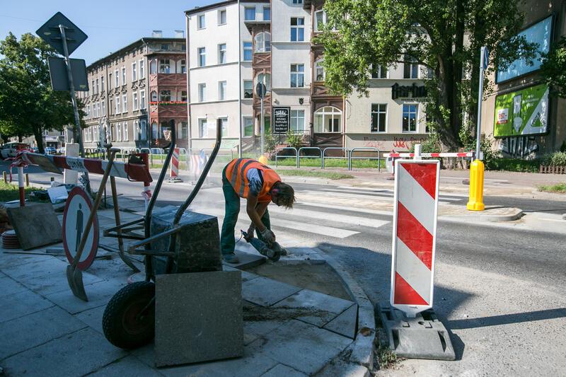 Wyremontowano ponad 6 tys. m kw. chodników (m.in. ul. Słupska, Kartuska, Czerwony Dwór)
