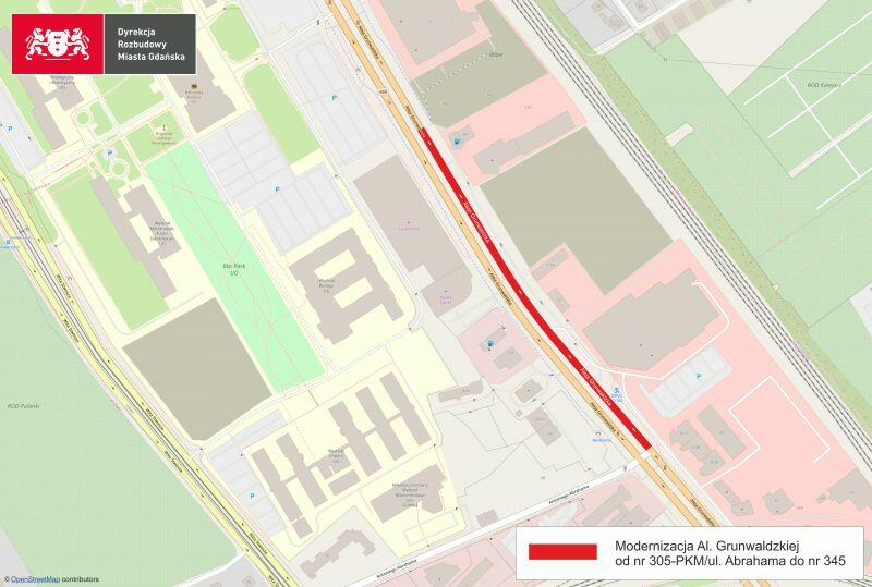 Grunwaldzka-305-345-szablon-OpenStreetMap