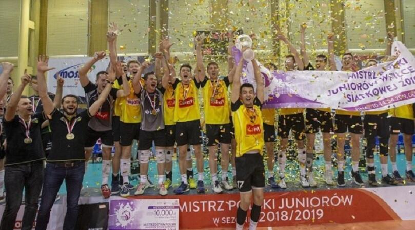 Młodzi siatkarze Trefla Gdańsk w sezonie 2018/2019 zostali mistrzami Polski juniorów