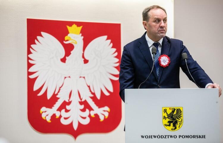 Mieczysław Struk mówił: - Z dokonań naszych przodków, którzy otworzyli Polsce okno na świat, możemy być dumni my i następne pokolenia