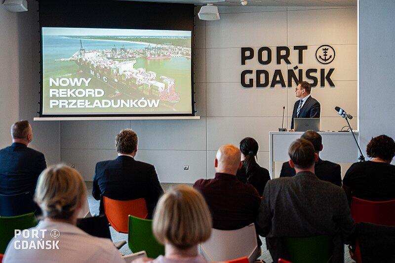 Władze Portu Gdańsk prezentują wyniki firmy za 2019 r.