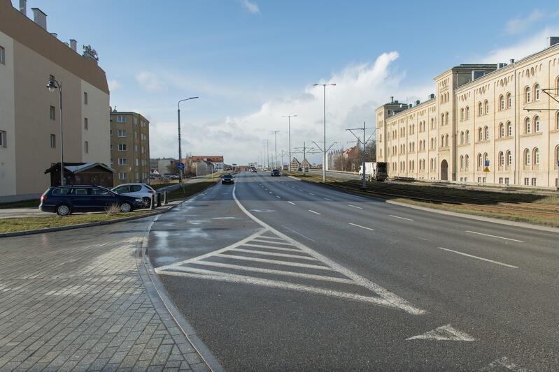 Skrzyżowanie Podwala Przedmiejskiego z ul. Łąkową