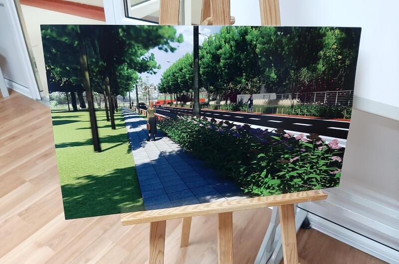 Podczas spotkania zaprezentowano wizualizacje przyszłej drogi