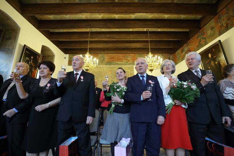 Wielka Sala Wety gościła dziś gdańszczan, których węzeł małżeński połączył ponad pół wieku temu i dłużej