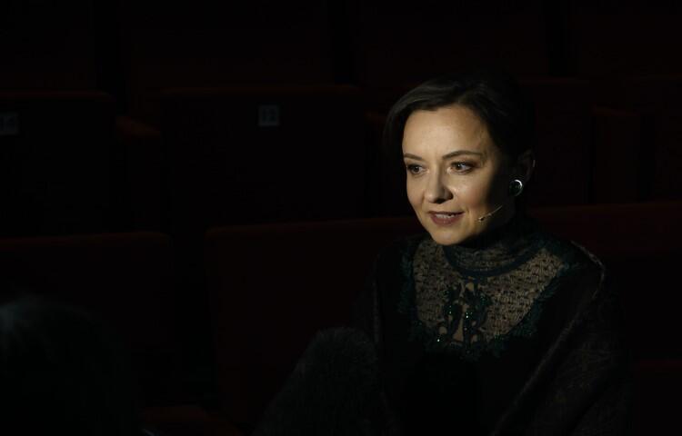 """""""Śmierć Iwana Iljicza"""". Małgorzata Brajner jako żona Praskowia Fiodorowna"""