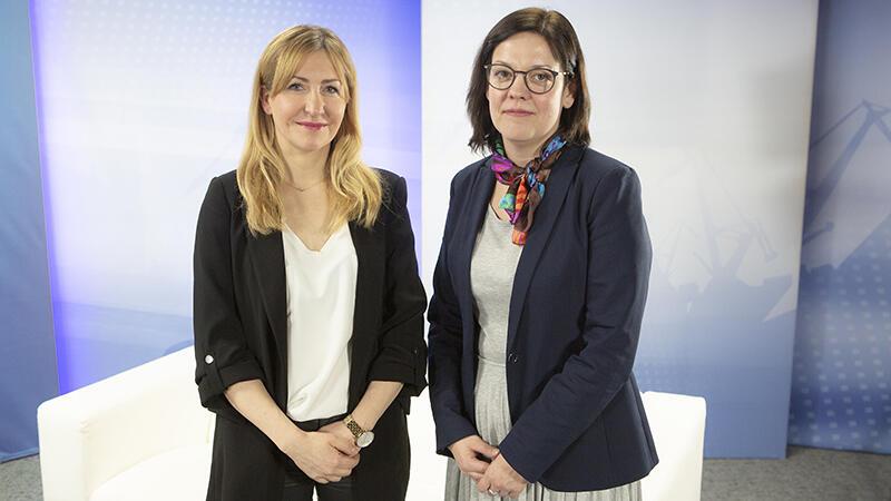 Katarzyna Wieczorek i Maria Maślak (po prawej) w naszym studio, gdzie rozmawiały na czym polega specyfika walki z depresją i gdzie w Gdańsku można znaleźć pomoc