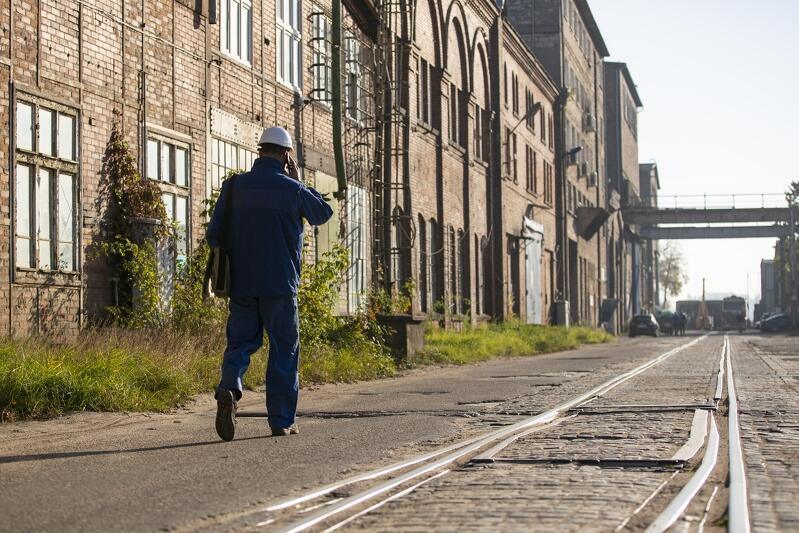 Zabytkowe przemysłowe tereny Stoczni Gdańskiej