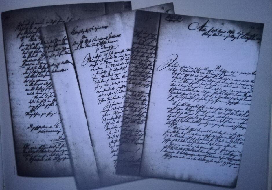 Zeznanie Jana Langego złożone w Dyrekcji Policji 13 kwietnia 1797 roku oraz pismo von Schröttera do byłych burmistrzów Groddecka i Weikhmanna z 17 kwietnia 1797 roku, sugerujące ich udział w spisku