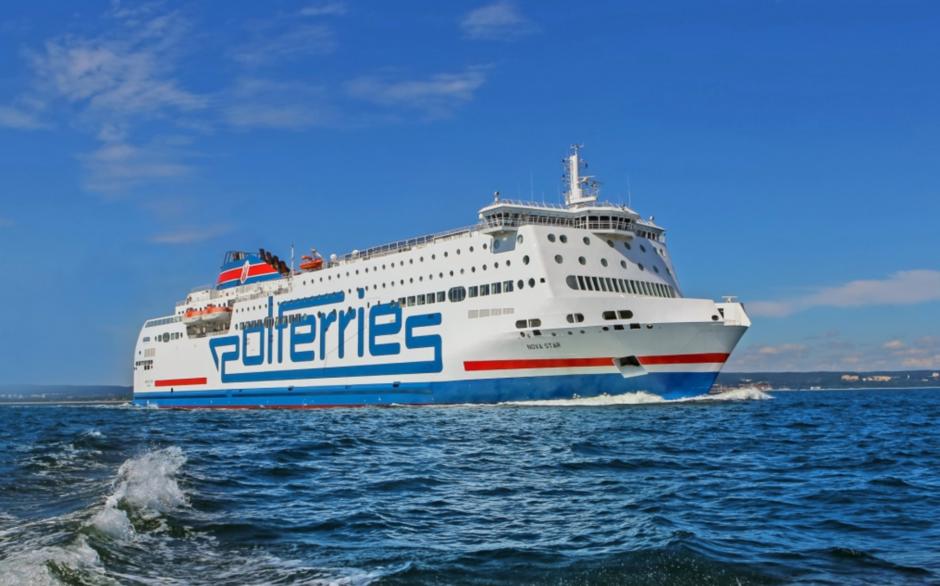 Promy Polferries (na zdjęciu jednostka Nova Star) podobnie jak promy Stena Line kursują do Szwecji zgodnie z rozkładami