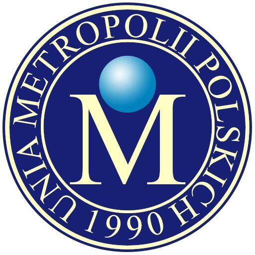 Logo Unii Metropolii Polskich, która skupia dwanaście największych polskich miast