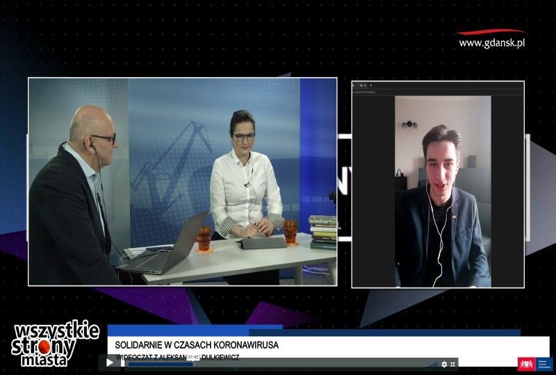 Prezydent Gdańska Aleksandra Dulkiewicz na czacie z mieszkańcami