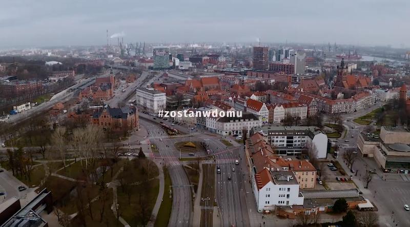 Opustoszałe gdańskie ulice to widok niecodzienny, trudny, ale też pokazujący dyscyplinę i mądrość społeczeństwa