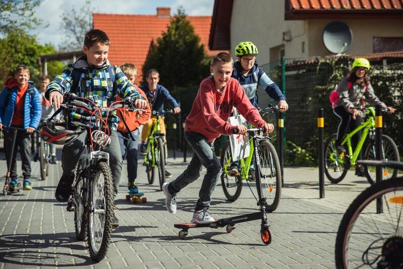Ubiegłoroczna kampania Rowerowego Maja w gdańskich szkołach. Nz. SP nr 24, ul. Lili Wenedy, maj 2019 roku.