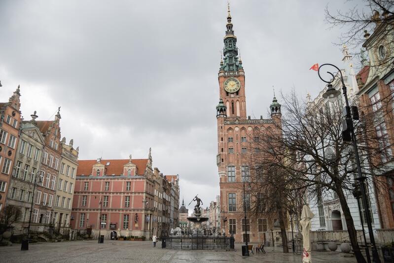 Opustoszały dziś Gdańsk pamięta o turystach