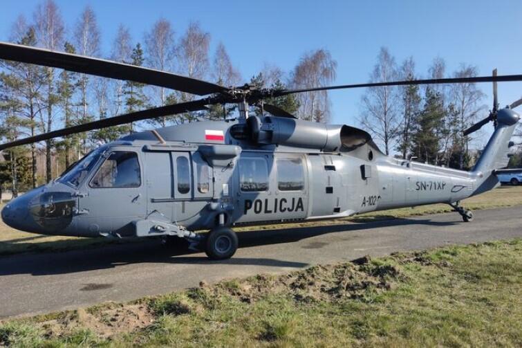 Śmigłowiec Black Hawk w służbie polskiej policji. Dotąd tego typu maszyny mogliśmy oglądać w filmach o akcjach bojowych amerykańskiego wojska