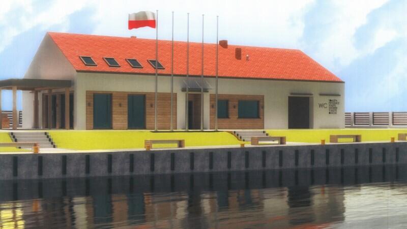 Wizualizacja - tak będzie wyglądać przystań przy ul. Wiślańskiej na Wyspie Sobieszewskiej