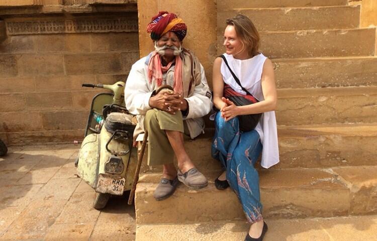 Ewa Dwornikiewicz. Zdjęcie z podróży do Indii