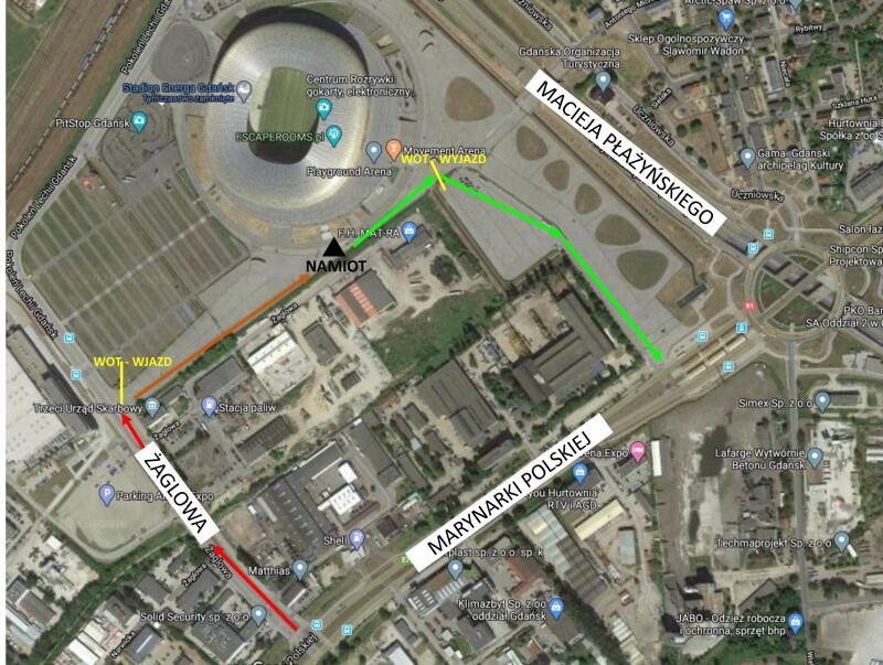 Mapa dojazdu do punktu-6dobra
