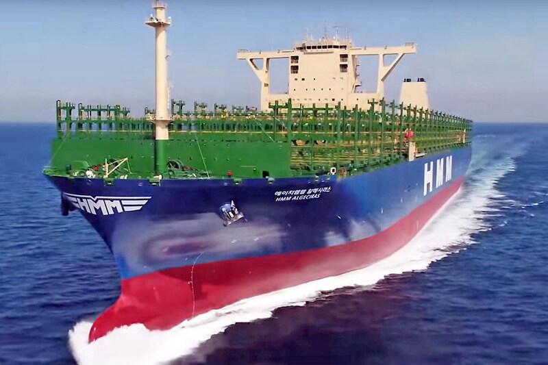 HMM Algeciras już wypłynął w swój pierwszy rejs ...